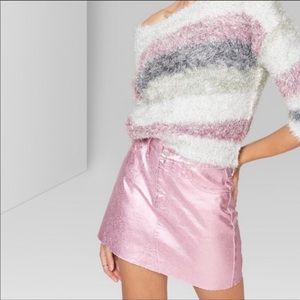 NWOT Wild Fable Metallic Pink Skirt